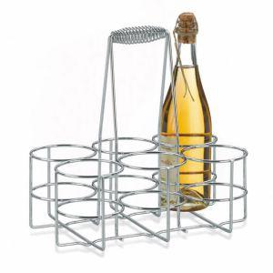 Kela Porte-bouteille Loop en acier chromé (21 x 31 cm)