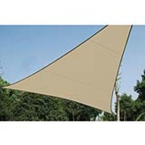 Perel GSS3360PE - Voile solaire triangulaire perméable 3,60 x 3,60 x 3,60 m