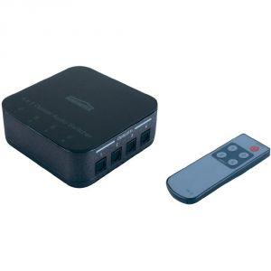 Marmitek Connect TS41 - Switch audio 4 entrées/1 sortie optique avec télécommande IR