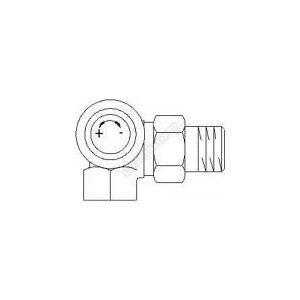 Oventrop 1180490 - Corps de robinet thermostatique angle gauche série A 12x17 diamètre 10