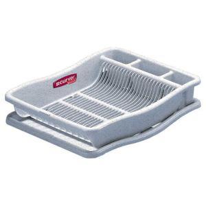 Curver 159434 - Egouttoir à vaisselle Luna avec plateau GM