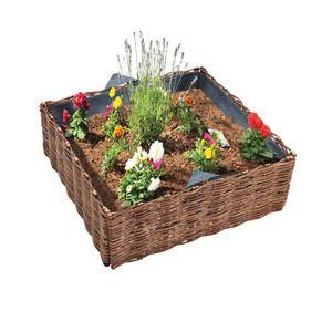 Jardiniere en osier comparer 52 offres for Carre potager en osier 120x120