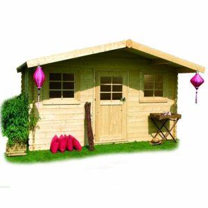 Solid S8371 - Abri de jardin Genève en bois 28 mm 10 m2