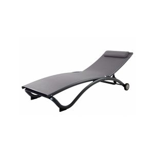 Proloisirs Chaise longue Corail avec roulettes