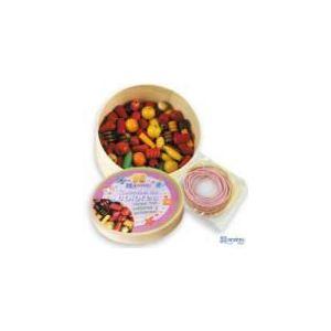 Andreu Toys Boîte de perles rondes en bois naturel (taille moyenne)