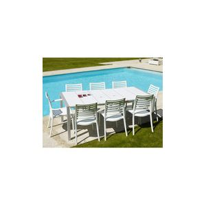 Grosfillex Sunday - Table de jardin rectangulaire en résine 100 x 190 cm