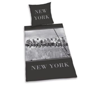 New York - Housse de couette avec taie 100% coton (135 x 200 cm)