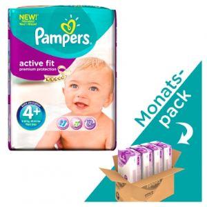 Pampers Active Fit taille 4+ Maxi+ (9-20 Kg) - Pack économique x 140 couches