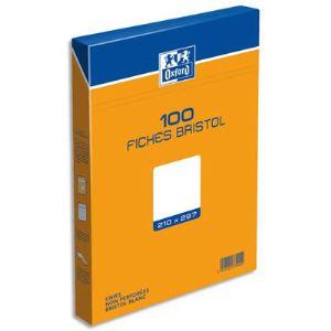 Exacompta Etui de 100 fiches bristol 210 g uni non perforées (A4)