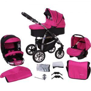 Milk Rock Baby Macano châssis argent - Poussette canne combinée avec nacelle et siège auto groupe 0+