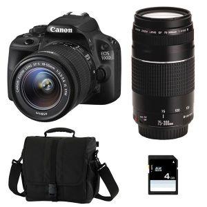 Canon EOS 100D (avec 2 objectifs 18-55mm et 75-300mm)