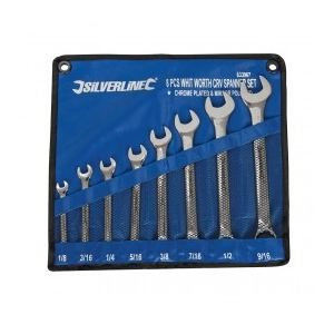 "Silverline 633967 - Jeu de 8 clés mixtes Whitworth 1/8"" - 9/16"""