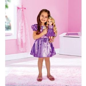 Coffret poupée + déguisement Raiponce (2-3 ans)