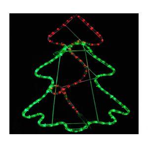 Homcom Guirlande lumineuse forme Sapin de Noël (85 x 137 cm)