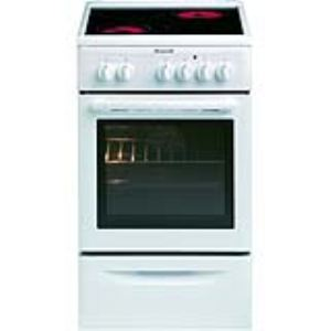 Brandt KV550WE2 - Cuisinière vitrocéramique 4 foyers avec four électrique