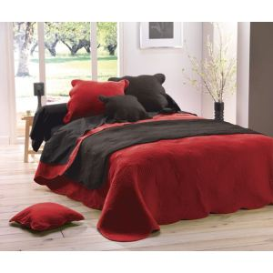 dessus de lit boutis rouge comparer 108 offres. Black Bedroom Furniture Sets. Home Design Ideas