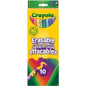 Crayola 10 crayons de couleur effaçables