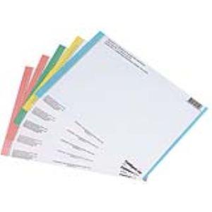 L'Oblique AZ Paquet de 10 étiquettes n° 0 pour dossiers suspendus tiroir format A4