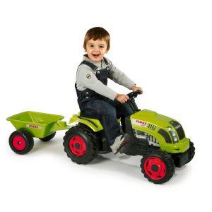 Smoby Tracteur à pédales Class GM avec remorque