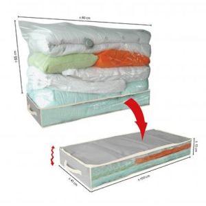 Mobea Boîte de rangement sous vide pour dessous de lit (100 x 45 x 15 cm)