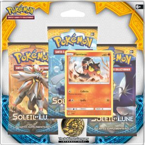 Asmodée Pack 3 Boosters Pokémon Soleil & Lune 01 Flamiaou
