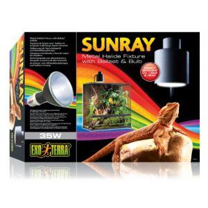 Exo terra Support Ballast Lampe Sunray pour Reptiles et Amphibiens 35 W