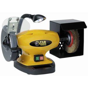 Far Tools BGB 150 - Touret à meuler 450W avec brosse et lampe