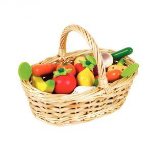 Janod J05620 - Panier de 24 fruits et légumes