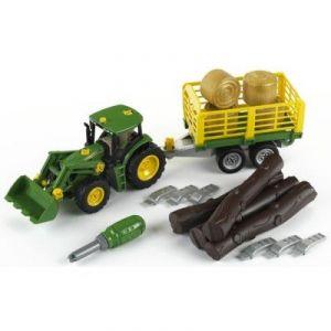 Klein 3906 - Tracteur John Deere avec char à bois et à foin