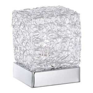 Lampe Arco en chrome et verre
