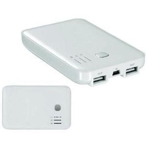 Wentronic 43262 - Batterie de secours au lithium 2 ports USB 5000 mAh