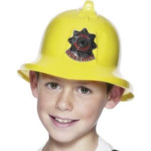 Casque de pompier jaune