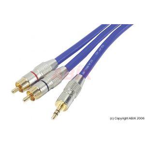 Cordon audio carte son HQ Pro jack 3.5mm / 2x RCA M 3m