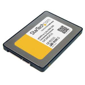 "StarTech.com SAT2MSAT25 - Boîtier d'adaptateur SSD SATA vers Mini SATA 2,5"""