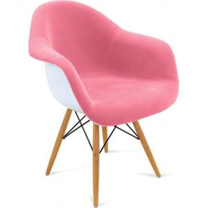 Chaise tissu rose comparer 230 offres for Coque chaise eames