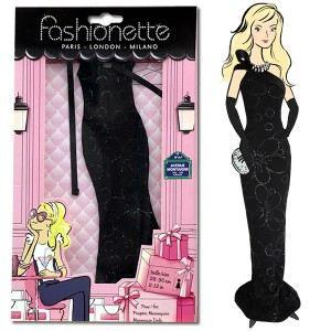 """Fashionette Look """"Pénélope"""" : Robe longue noire à paillettes pour Barbie, Steffi, Disney Princesse et Pulipp"""