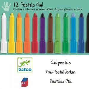 Djeco 12 pastels gel