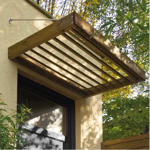 Jardipolys MAR1208 - Auvent Lumilam design en bois