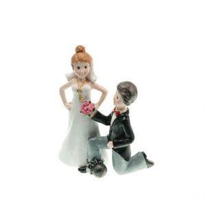 Chaks 80170 - Figurine en résine Couple de mariés à genoux (15 cm)