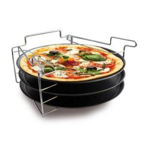 Baumalu 3 plaques à pizza avec support