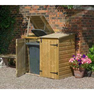 Rowlinson Coffre multifonctions / Abri poubelles double en bois 1,50 m3 BINSTORE - BINLRGP28
