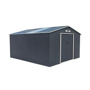 Abri de jardin en métal 10.85 m² et kit d'ancrage offert