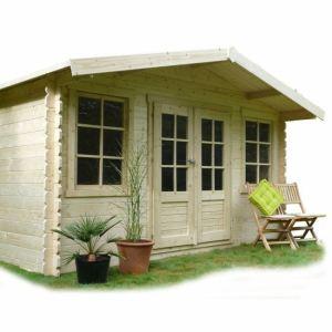 Solid S8384 - Abri de jardin Dole en bois 28 mm 10 m2