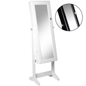 Miroir avec rangement bijoux comparer 131 offres for Miroir sur pied gifi