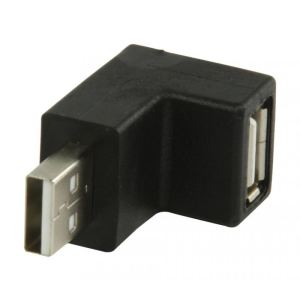 Valueline VLCP60930B - Adaptateur coudé 90° USB 2.0 A mâle vers USB A femelle