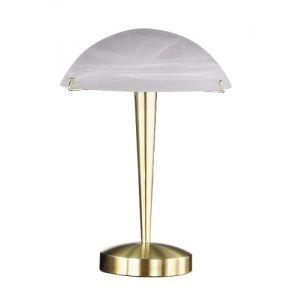 Trio Lampe de table tactile en métal et verre (38 cm)