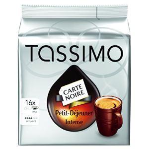Tassimo 16 dosettes T-Discs Carte Noire Petit Déjeuner intense