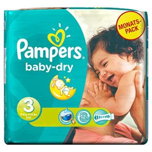 Pampers Baby Dry taille 3 Midi (4-9 kg) - Pack économique x 198 couches
