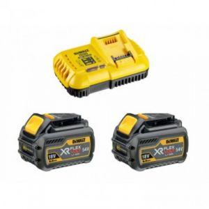 Dewalt 2 batteries 18/54V XR FLEXVOLT avec chargeur - DCB118T2