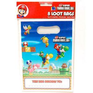 Party2u Pochettes cadeaux Super Mario Bros